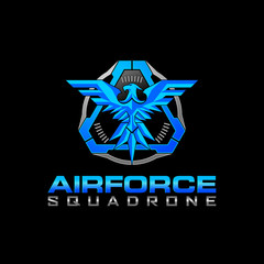 Tactical Eagle air force Squadrone  logo design