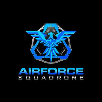 Tactical Eagle air force Squadrone  logo design