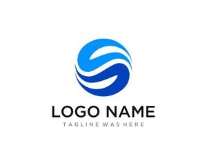 """Element Fluid Yin Yang Combination Mix Letter """"CC / S / SC"""" Logo Template"""