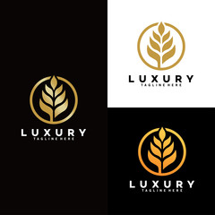 wheat grain logo