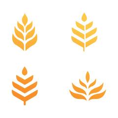 wheat grain logo set