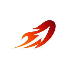Comet Arrow Logo Design. Fire Launch With Arrow Shape Inside Business Logo Template