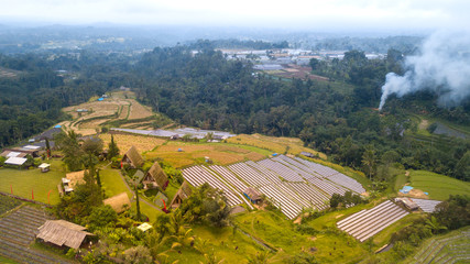 Aerial view on the Jatiluwih Rice Terrace, Bali, Indonesia