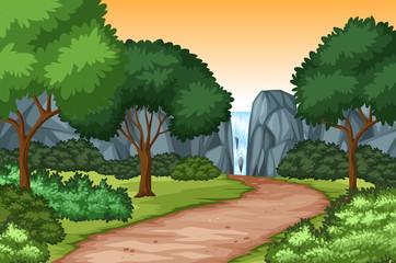 Waterfall nature scenic background