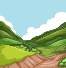 Hill nature landscape scene