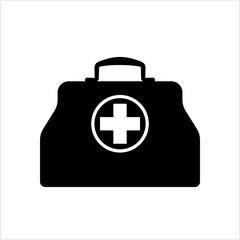 Doctor Bag Icon, First Aid Box Icon