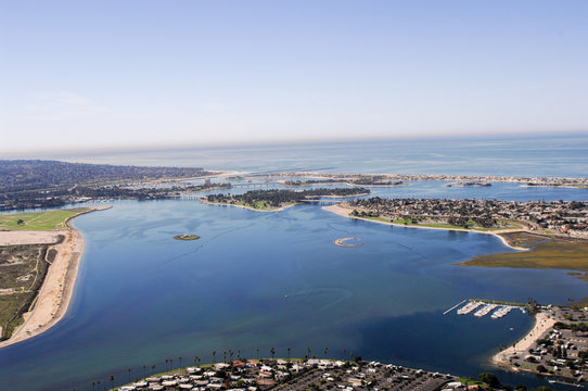 mission bay from above