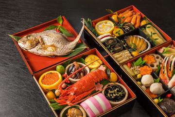 一般的なおせち料理 General Japanese New Year dishes(osechi)