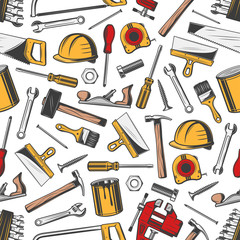 Repair and building construction tools pattern