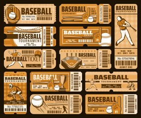 Baseball sport game tickets, championship match