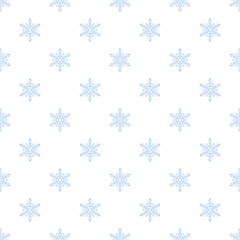 White snowflake pattern seamless vector repeat for any web design