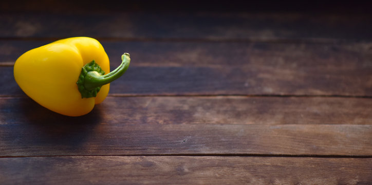 yellow bell pepper on the table
