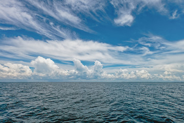 Calm clouds over the the ocean