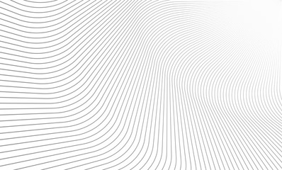 Vector Illustration of the pattern of gray lines on white background. EPS10. Wall mural