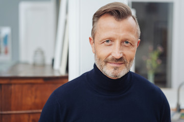 Attractive middle age man closeup portrait