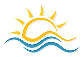 Sun and Sea Symbol.