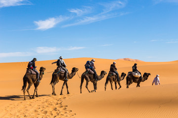 In der Wüste Erg Chebbi in Marokko