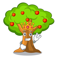 King apple tree in agriculture the cartoon