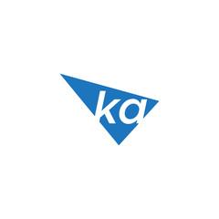 Obraz initial two letter ka negative space triangle logo - fototapety do salonu