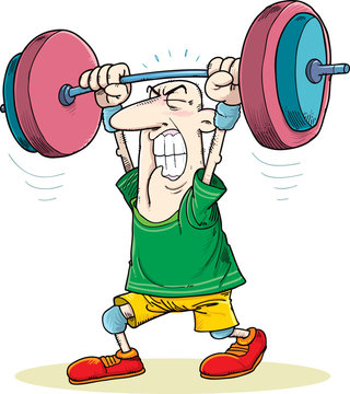 illustration of an man lifting a weight