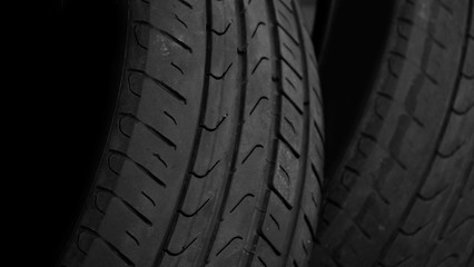 car tyre as background