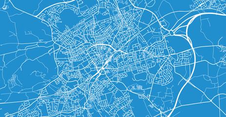 Urban vector city map of Blackburn, England