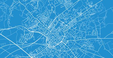 Urban vector city map of Canterbury, England