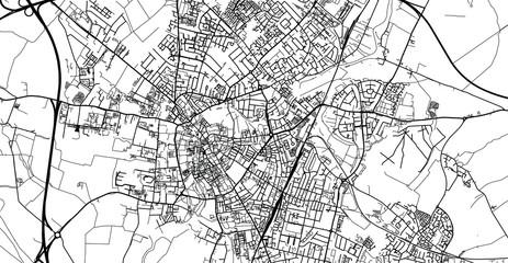Urban vector city map of Cambridge, England