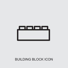 building block icon. outline building block icon from entertainment collection. Use for web, mobile, infographics and UI/UX elements. Trendy building block icon.