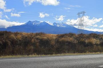 Mount Ruapehu seen from the Motorway