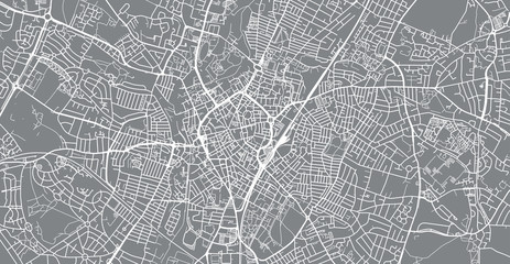Urban vector city map of Leicester, England