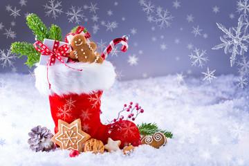 Nikolausstiefel im Schnee
