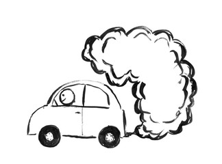 smog photos royalty free images graphics vectors videos adobe Blown Anglia black brush and ink artistic rough hand drawing of smoke ing from car exhaust into air