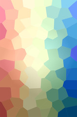 Illustration of abstract Red, Blue, Green And Yellow Big Hexagon Vertical background.