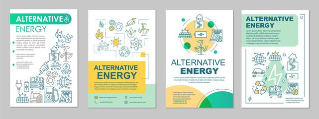 Alternative energy brochure template layout