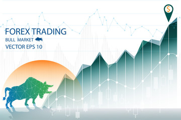 vector of forex trading graph with bear market or bearish market,financial and trade online concept