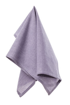 Purple kitchen towel isolated on white background