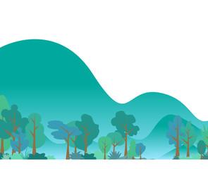Flat  leaves background template vector illustration flat design