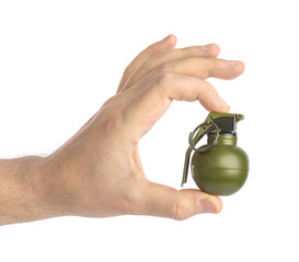 Hand with small grenade
