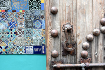 Arabic patterns zellige at Anima garden by Andre Heller, Marrakesh, Morocco