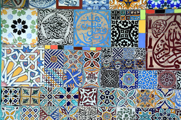 Arabic patterns zellige at Anima garden by Andre Heller, Marrakesh, Morocco