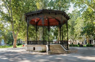 Beautiful old rotunda at Strossmayer Square (park) in Zagreb