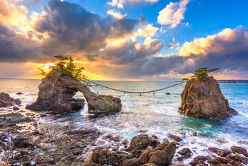 Hatago Iwa rock on the Noto Peninsula in Japan