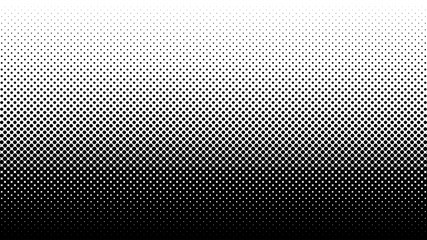 Halftone vector background. Monochrome halftone pattern. Abstract geometric dots background. Pop Art comic gradient black white texture. Design for presentation banner, flyer, business cards, stickers