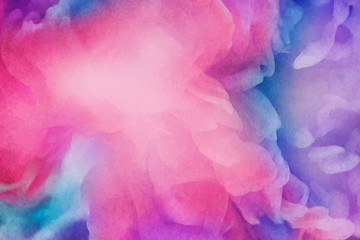 Vibrant watercolor painting background