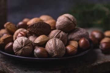 Nuts christmas still life