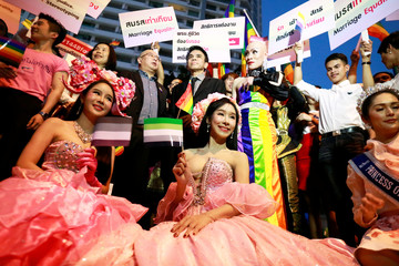Thai LGBT community participates in Gay Freedom Day Parade in Bangkok