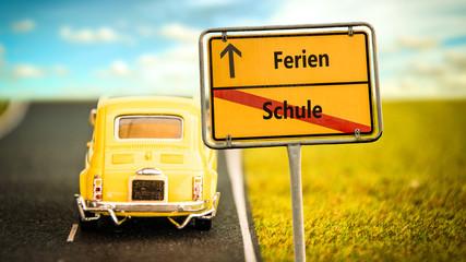 Schild 355 - Ferien