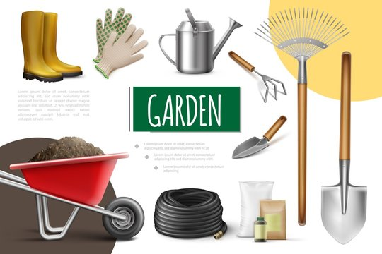 Realistic Garden Elements Collection