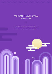 Korean traditional vector background.